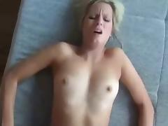hot blonde sucks and fucks