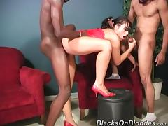 Juicy Avy Lee Roth Has An Interracial Threesome With Two Black Men