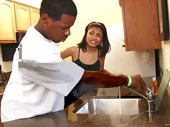 All, Blowjob, Couple, Doggystyle, Ebony, Kitchen