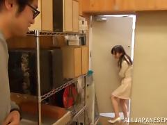 Young Rimu Sasahara pleases guy with naughty teasing