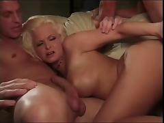 Papa - Blonde gets double reamed face creamed