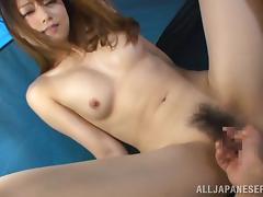 Mouthwatering Akiho Yoshizaw Gets Her Hairy Pussy Fingered