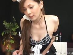 Sizzling Japanese girl Shiori Ihara gets amazingly fucked doggy style
