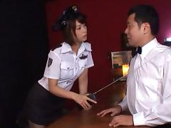 Wet, Asian, Blowjob, Boss, Clothed, Cop