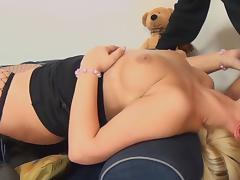 Old and Young, Blonde, Blowjob, Couple, Fisting, Sofa