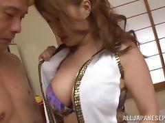 Naughty milfs Ren Aizawa and Yume Mizuki have hardcore fun