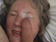 mature lady facial