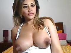 Curvy Latin slut shows all her goods on a sex chat