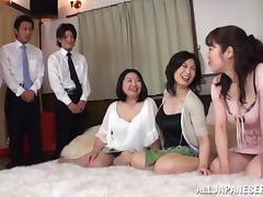 Japanese Orgy, Amateur, Asian, Blowjob, Bra, Cowgirl