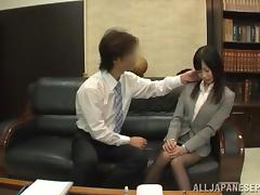 Teen Rides A Cock And Gets It Doggy Style In Office Clothes