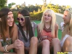 Striking Mikayla Hendrix and Her Kinki GFs Have A Lesbian Orgy