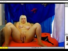 Chubby Blonde on webcam Masturbating