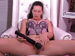 Playing with a sex toy very naughty