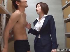 Succulent Sayuki Kanno Sucks A Big Cock In Her Job Break