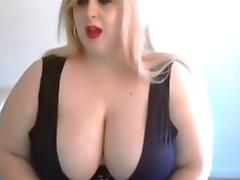 Her large tits are in the center of attention