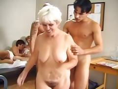 Grandma, Granny, Group, Mature, Old, Orgy