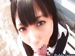 Aino Kishi Asian babe likes public sex