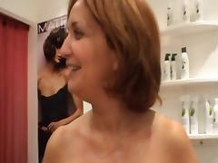 Sexy mature hairdresser