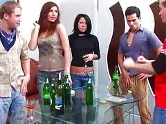 Student, Blowjob, Brunette, Couple, Cum, Cumshot