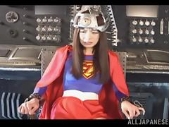 Ren Aizawa naughty Asian babe in costume gives superb headjob