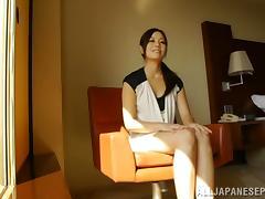 Hot MILF Minami Asano during hot tongue action