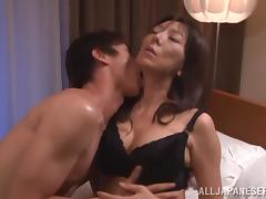 Hairy Japanese MILF Toyed and Fucked Hard