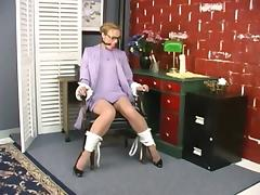 Bound, BDSM, Blonde, Bound, Fetish, Office