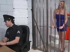 Jail, Blonde, Cop, Couple, Hardcore, Jail