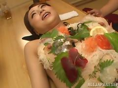Akiho Yoshizawa naughty Asian milf gets public threesome