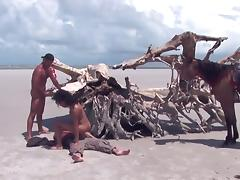 Brazil, Anal, Beach, Brazil, Group, Orgy