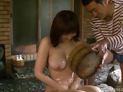 Sex in the hot tub with a smoking hot Japanese bitch