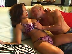 Daddy's Huge Old Cock Satisfying Nasty Asian Angel