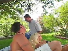 Blonde Chick Wants to Blow Big Horns