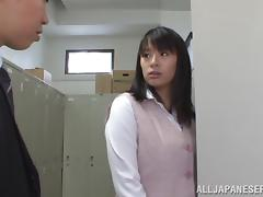 Lovely Asian Couple Have Hardcore Sex In The Locker Room