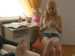 Hardcore anal sex clip with salacious pigtailed blonde