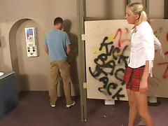 Horny man Trent drills Julie's butt in upskirt anal sex scene