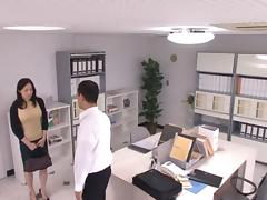 Michiru Sakura Asian chick has hot office sex