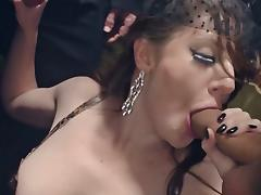 Filthy babe Samantha Bentley gangbang at the party