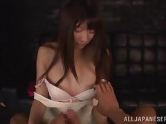 Rina Rukawa is masturbated and fucked by a guy