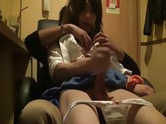 School Girl getting Hand Job