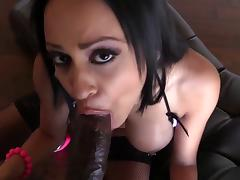 Busty Kimberly Kendall POV sucking BBC & facial