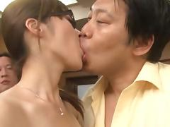 Rika Sugisaki Asian chick is a big tit secretary