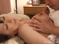 Shiori Ihara gets her shaved pussy licked and fucked