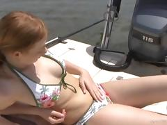 All, Bikini, Couple, Cum, Handjob, Outdoor