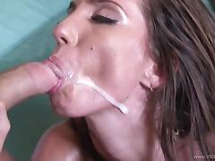 Vagina, Babe, Couple, Cum in Mouth, Cumshot, Facial