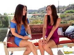 Astonishing pussy-licking scene with brunette lesbian Aidra Fox