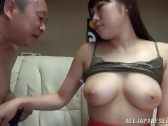 Old and Young, Asian, Big Tits, Boobs, Couple, Japanese