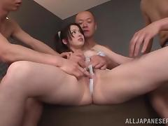 Charming Anna Natsuki Gets Gangbanged By Asian Dudes