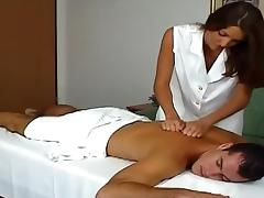 Brunettes Gets A Rough Anal After Giving A Hot Massage