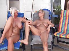 Granny Lesbian, Big Tits, Blonde, Blowjob, Boobs, Cunt